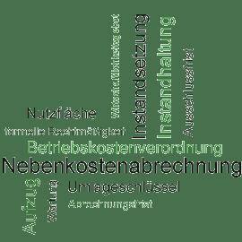 Bild: Nebenkosten in Stichworten (Instandsetzungskosten, Instandhaltungskosten, BetrKV, ...)