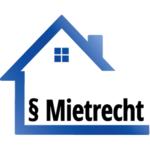 blaues Haus mit Aufschrift Mietrecht und Paragraf