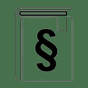 Buch mit Paragraf weiß
