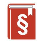 Buch mit Paragraf rot