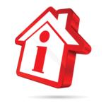 Haus - rot in Infosymbol