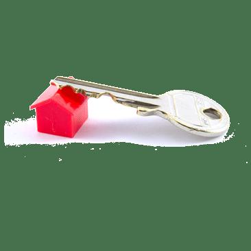 Schlüssel auf rotem Haus